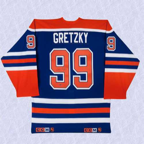 Wayne Gretzky Edmonton Oilers Signed Away Double Tagged CCM Pro Jersey