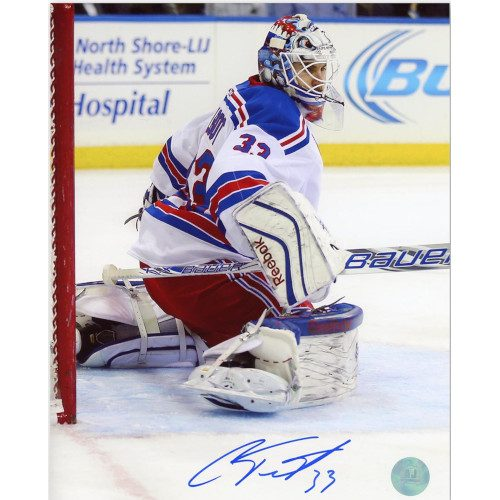 Cam Talbot New York Rangers Autographed Action 8x10 Photo