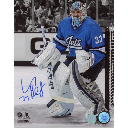Connor Hellebuyck Winnipeg Jets Autographed Aviator Spotlight 8x10 Photo