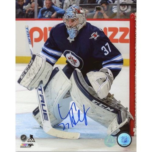 Connor Hellebuyck Winnipeg Jets Autographed Hockey Goalie 8x10 Photo