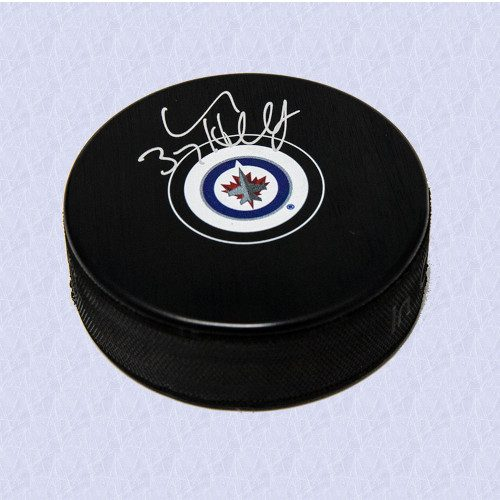Connor Hellebuyck Winnipeg Jets Signed Autograph Model Hockey Puck