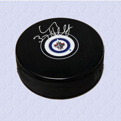 Connor Hellebuyck Winnipeg Jets Signed Autograph Model Hockey Puck