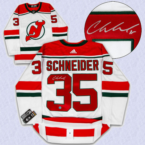 Cory Schneider New Jersey Devils Signed Retro Alt Adidas Authentic Hockey Jersey