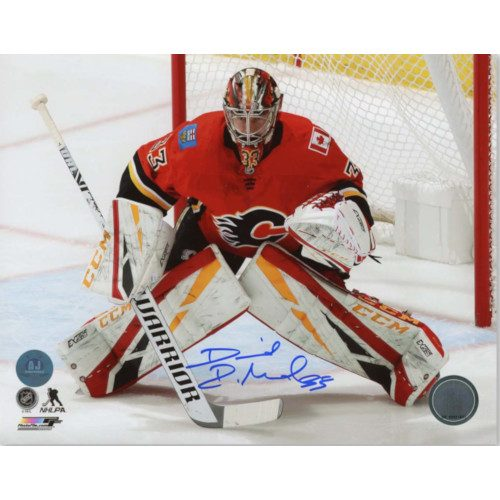 David Rittich Calgary Flames Autographed Hockey Goalie 8x10 Photo