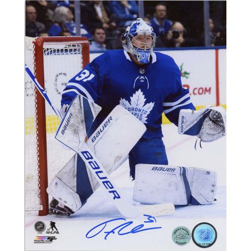 Frederik Andersen Toronto Maple Leafs Autographed Goalie Action 8x10 Photo
