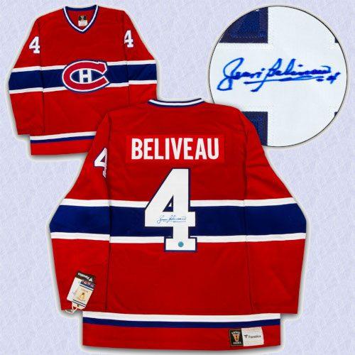 Jean Beliveau Montreal Canadiens Signed Final Season Fanatics Vintage Jersey
