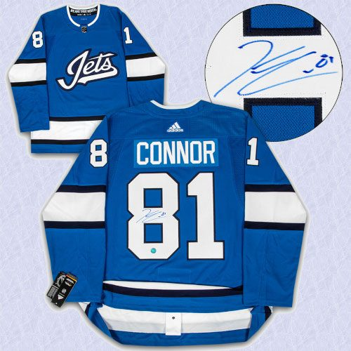 Kyle Connor Winnipeg Jets Autographed Aviator Alt Adidas Authentic Hockey Jersey