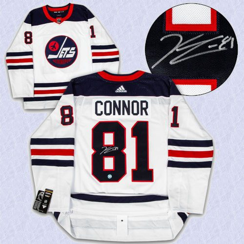 Kyle Connor Winnipeg Jets Signed Heritage Logo Adidas Authentic Hockey Jersey