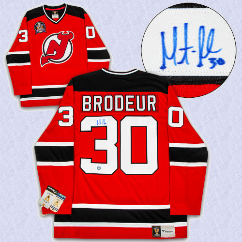 new york a5f58 0dbde Martin Brodeur New Jersey Devils Signed 1995 Stanley Cup Fanatics Vintage  Jersey