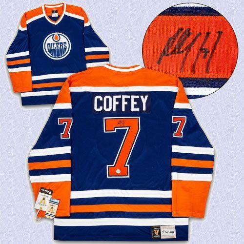 Paul Coffey Edmonton Oilers Autographed Fanatics Vintage Hockey Jersey
