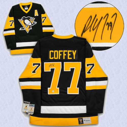 Paul Coffey Pittsburgh Penguins Autographed Fanatics Vintage Hockey Jersey