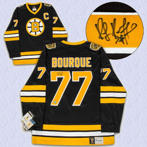 Ray Bourque Boston Bruins Autographed Black Fanatics Vintage Hockey Jersey