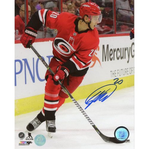 Sebastian Aho Carolina Hurricanes Autographed Action 8x10 Photo