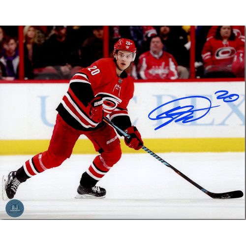 Sebastian Aho Carolina Hurricanes Autographed NHL Hockey 8x10 Photo