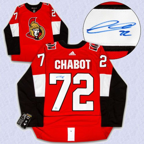 Thomas Chabot Ottawa Senators Autographed Adidas Authentic Hockey Jersey