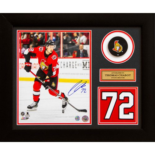 Thomas Chabot Ottawa Senators Autographed Franchise Jersey Number 20x24 Frame