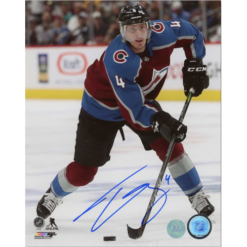 Tyson Barrie Colorado Avalanche Autographed Action 8x10 Photo