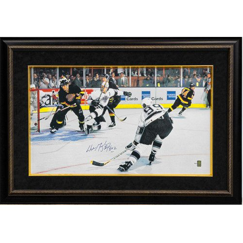 Wayne Gretzky LA Kings Signed & Inscribed Record Goal 802 31x45 Canvas 199 WGA