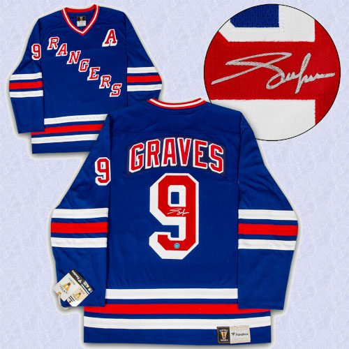 Adam Graves New York Rangers Autographed Fanatics Vintage Hockey Jersey