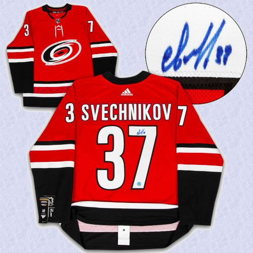 Andrei Svechnikov Carolina Hurricanes Autographed Adidas Authentic Hockey Jersey