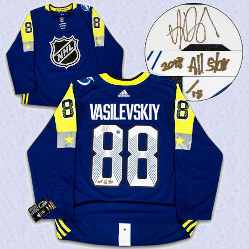 Andrei Vasilevskiy 2018 All Star Signed & Inscribed Adidas Authentic Jersey /18