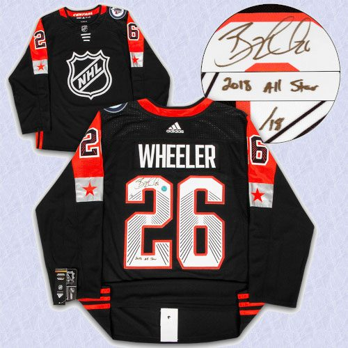 Blake Wheeler 2018 All Star Game Signed Adidas Authentic Jersey with 2018 All Star Note #/18
