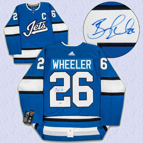 Blake Wheeler Winnipeg Jets Autographed Aviator Adidas Authentic Hockey Jersey
