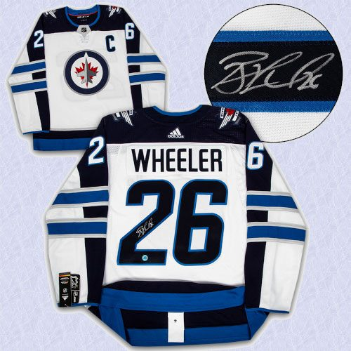 Blake Wheeler Winnipeg Jets Autographed White Adidas Authentic Hockey Jersey