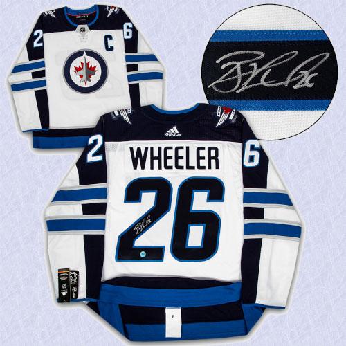 Blake Wheeler Winnipeg Jets Autographed White Adidas Authentic Hockey Jersey