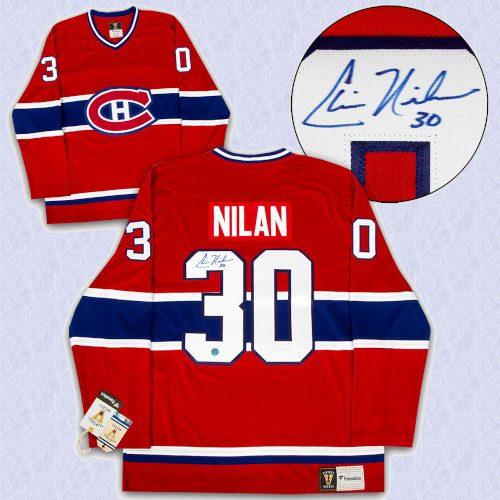Chris Nilan Montreal Canadiens Autographed Fanatics Vintage Hockey Jersey
