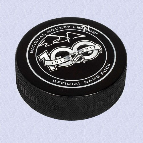 Evgeni Malkin NHL Centennial Season Autographed 100 Years Official Game Puck