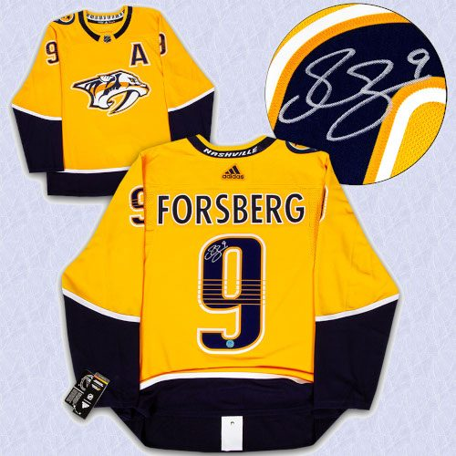 Filip Forsberg Nashville Predators Autographed Adidas Authentic Hockey Jersey