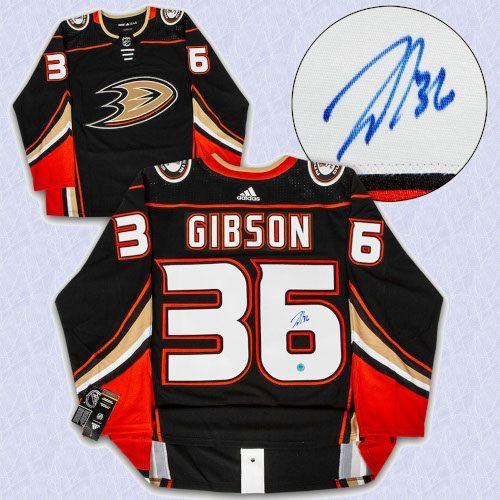 John Gibson Anaheim Ducks Autographed Adidas Authentic Hockey Jersey