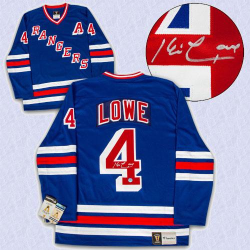 Kevin Lowe New York Rangers Autographed Fanatics Vintage Hockey Jersey