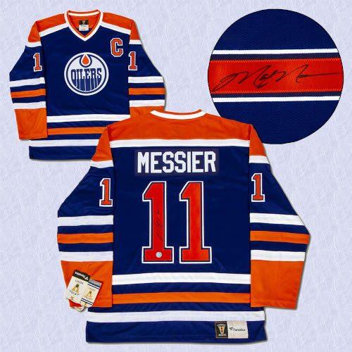 Mark Messier Edmonton Oilers Autographed Fanatics Vintage Hockey Jersey