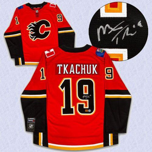 Matthew Tkachuk Calgary Flames Autographed Fanatics Hockey Jersey