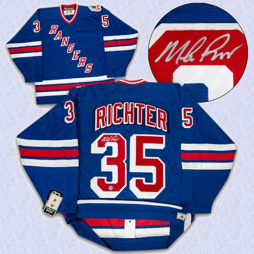 Mike Richter NY Rangers Signed 1994 Stanley Cup Authentic Vintage Hockey Jersey