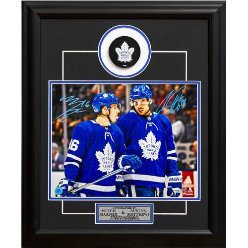 low priced 4da3b 23d1f Mitch Marner & Auston Matthews Dual Signed Toronto Maple Leafs Board  Meeting 19x23 Frame