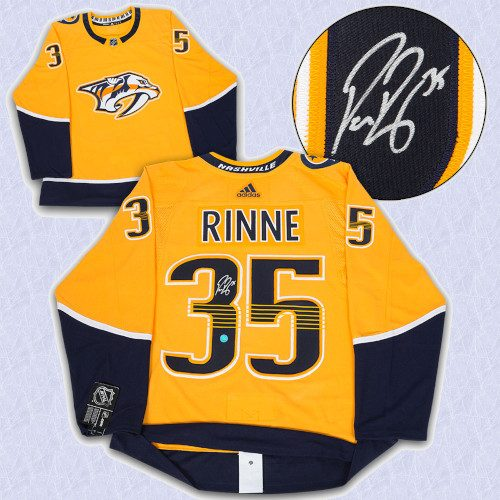 Pekka Rinne Nashville Predators Autographed Adidas Authentic Hockey Jersey