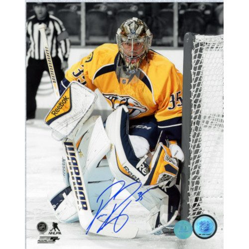 Pekka Rinne Nashville Predators Autographed Goalie Spotlight 8x10 Photo