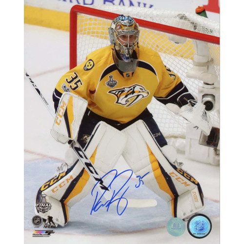 Pekka Rinne Nashville Predators Autographed Stanley Cup Finals Action 8x10 Photo