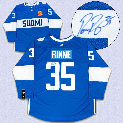 Pekka Rinne Team Finland Autographed World Cup of Hockey Adidas Hockey Jersey