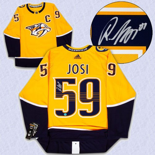 Roman Josi Nashville Predators Autographed Adidas Authentic Hockey Jersey
