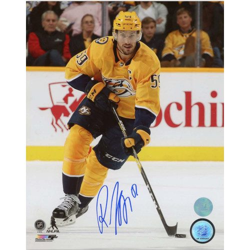Roman Josi Nashville Predators Autographed NHL Captain 8x10 Photo