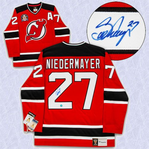 Scott Niedermayer New Jersey Devils Signed 1995 Cup Fanatics Vintage Jersey
