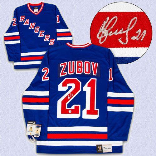 Sergei Zubov New York Rangers Signed 1994 Cup Fanatics Vintage Hockey Jersey