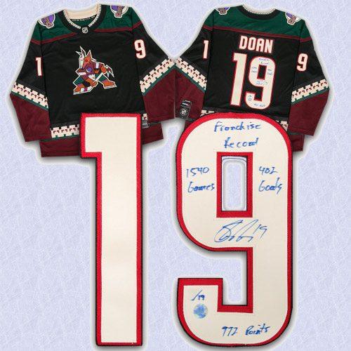 Shane Doan Arizona Coyotes Signed & Inscribed Franchise Record Retro Fanatics Hockey Jersey #/19