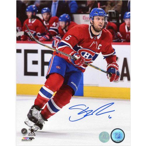 Shea Weber Montreal Canadiens Autographed Hockey Captain 8x10 Photo