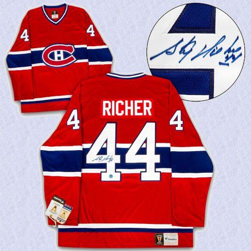 Stephane Richer Montreal Canadiens Autographed Fanatics Vintage Hockey Jersey
