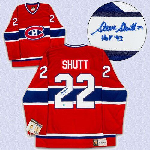 Steve Shutt Montreal Canadiens Autographed Fanatics Vintage Hockey Jersey